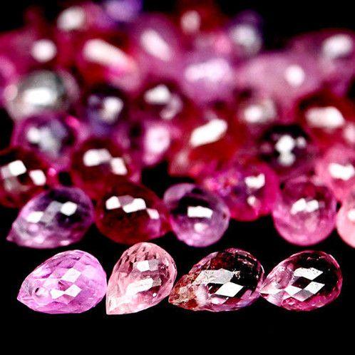 шлифованный розовый корунд