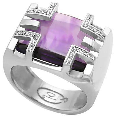 мужской перстень с аметистом