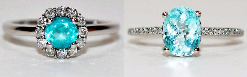 кольца с параибой