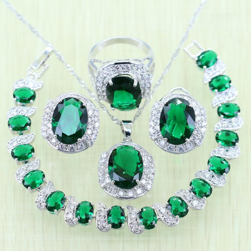 зелёный циркон украшения
