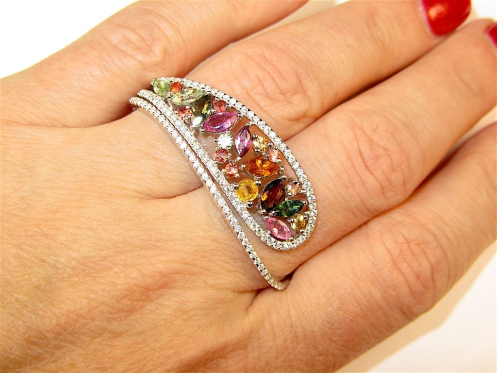 кольца с турмалином