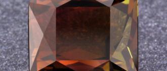 коричневый турмалин