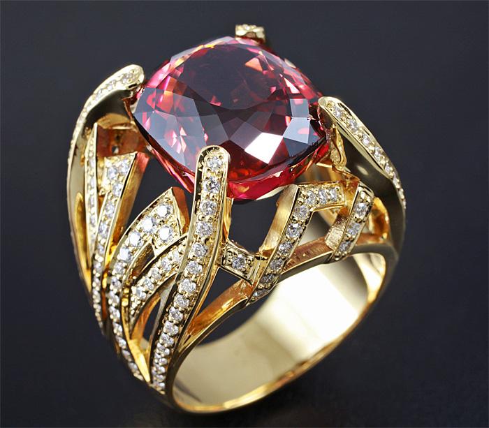 кольца стурмалином