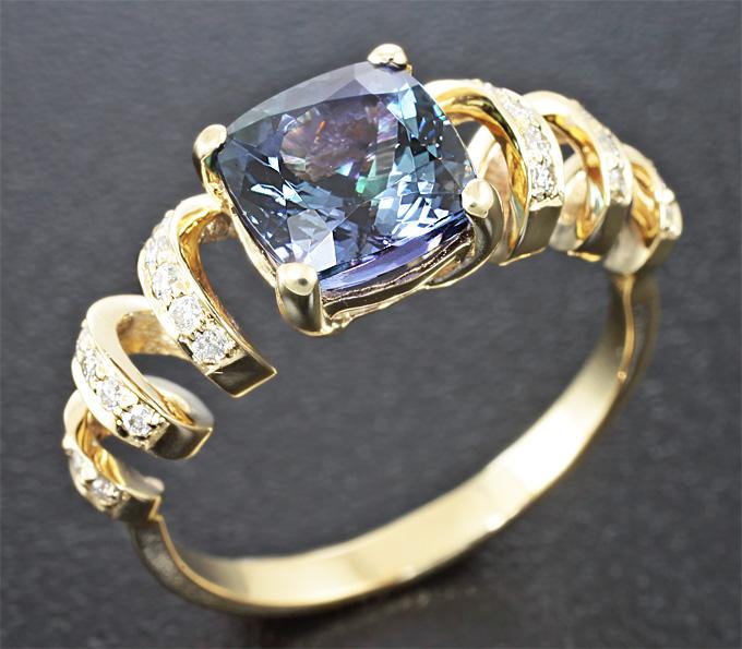 кольца с танзанитом