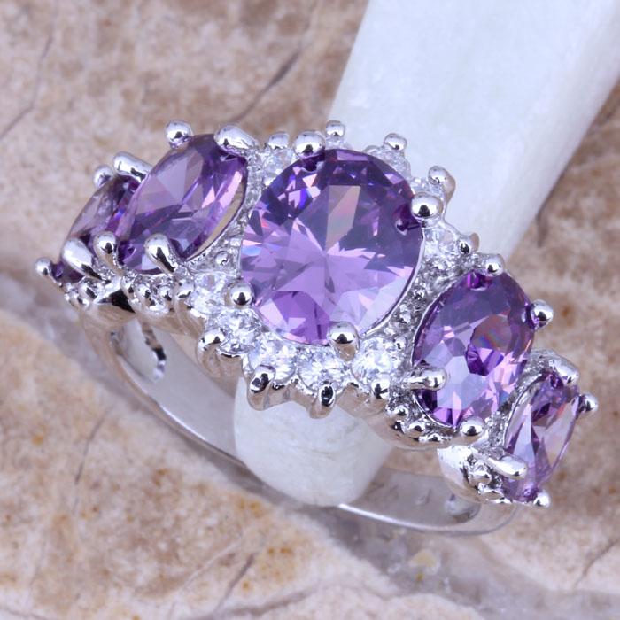 фиолетовый топаз в кольце