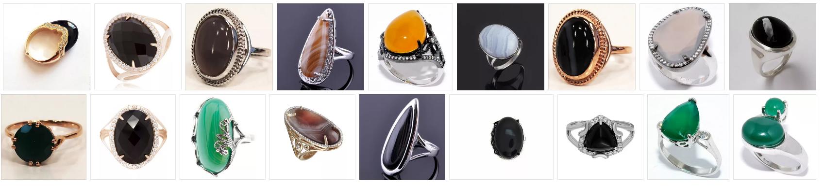 кольца с агатом женские