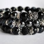 браслеты с чёрным агатом