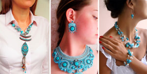 Как носить ожерелье из бирюзы