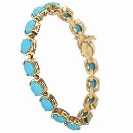 Золотой браслет с бирюзой