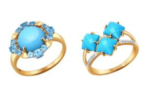Под какую одежду подходит золотое кольцо с бирюзой