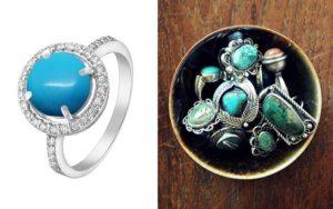 Серебряные украшения с бирюзой