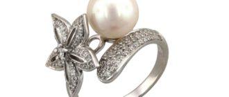 Cеребряное кольцо с жемчугом