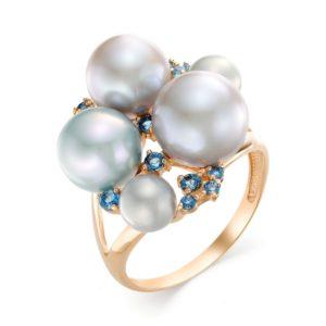 Кольцо с жемчугом в золоте