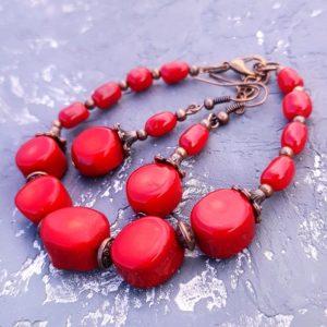 Какие украшения делают из красного коралла