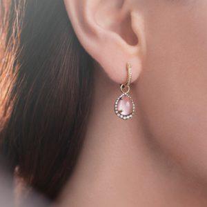 Как и с чем носить серьги с розовым кварцем