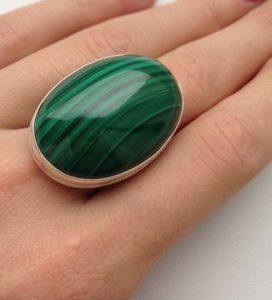 кольцо из малахита