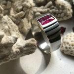 Мужской перстень с рубином