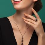 серебряное кольцо с янтарём